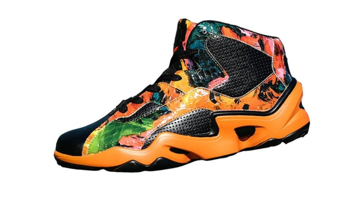 Men's Simple Synthetic Fashion Outdoor Sports Basketball Shoes