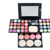 Portable Shimmer Eyeshadow Palette Set Brush Mirror