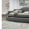 Perry Modern and Contemporary Fabric Daybed with Trundle