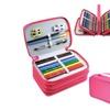 Hot Pink Layers High Capacity Pencil Brush Case Box Pen Makeup Storage