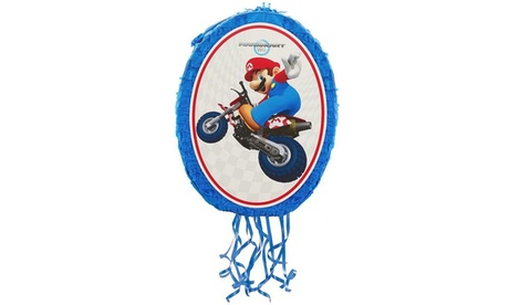 "Mario Kart Wii Mario and Luigi 18"" Pull-String Pinata Party Supplies cf95b06e-9eea-4dad-b438-af15c6132fba"