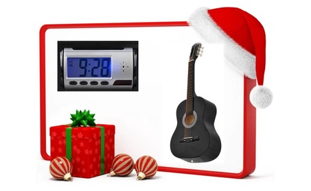 Acoustic Guitar, Guitar Case Strap & Camera Alarm Clock Recorder Free ceeed1ce-82cb-4737-a96b-5514501f0aa6