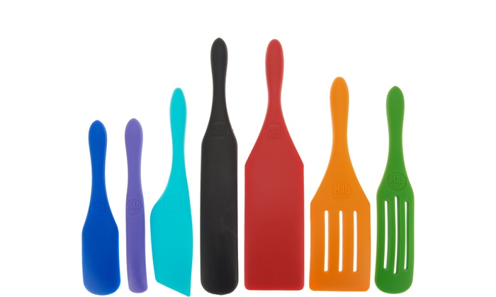 Mad Hungry Set of Kitchen Gadgets 2-pc Silicone Spurtles with Gift Boxes 3