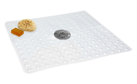 "Evelots Non Slip Bath & Shower Mat With Powerful Suction Cups,21"" X 21 d22eb191-c0fe-4eaf-ac11-6eca5cd6269f"