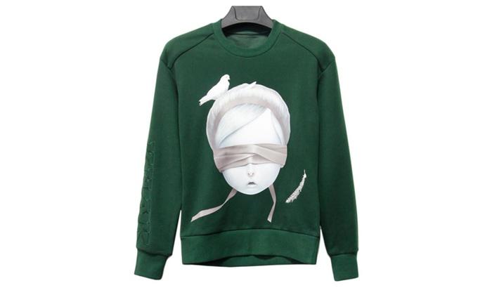 Women's the Peace Dove Printed Crew Neck Sweatshirt