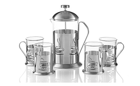 Decorative French Press Coffee Maker Brewer Set 27 fl. oz./800ml 4cups df73f791-6945-478b-ae44-68265bb339c6