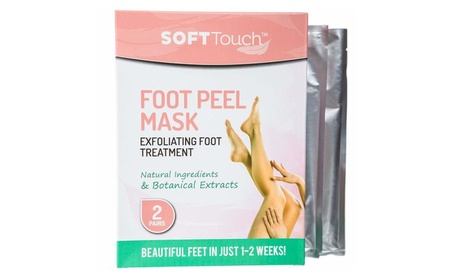 Soft Touch Foot Peel Mask Exfoliating Callus Remover - 2 Pairs Per Box