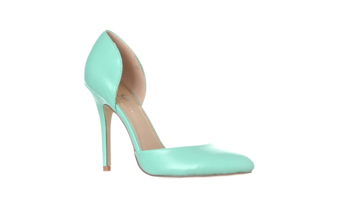 Riverberry 'Nora' Pointed Toe D'Orsay Pump Heels, Mint PU