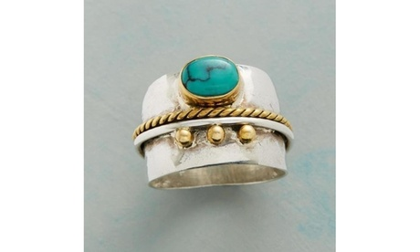 Fashion 925 Sterling Silver Yellow Gold Natural Gemstone Emerald Rings