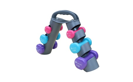 Dumbbell Set of 6 Total Dumbbells With Foldable Rack ed27e89d-79b5-49c3-9a83-6f241f73029b