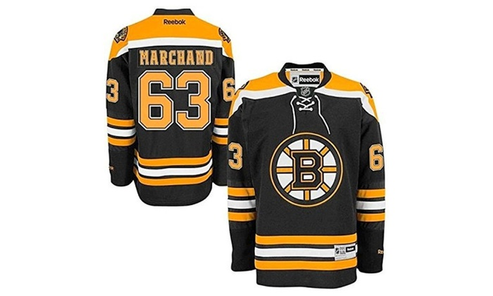 Brad Marchand Boston Bruins  63 Nhl Youth Premier Stitched Jersey ... 9014efdc4