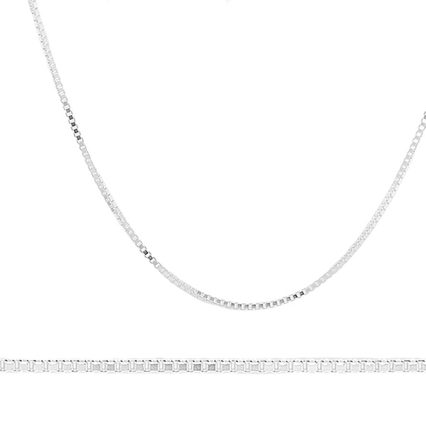 79e7dada808e08 Up To 60% Off on Box Chain in Sterling Silver | Groupon Goods
