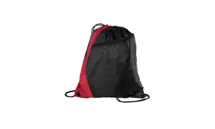 1018ff5ed12e New Colorblock Drawstring Backpack Cinch Sack School Tote Gym Bag ...