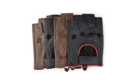 Vance Co. Mens Perforated Motorcycle Genuine Leather Driving Gloves ab367938-e3b8-4821-bea4-9fc16892568f
