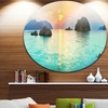 Sunrise Panorama' Photography Circle Metal Wall Art