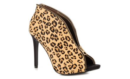 Carlos Santana Veruca Pony Hair Shoes in Leopard