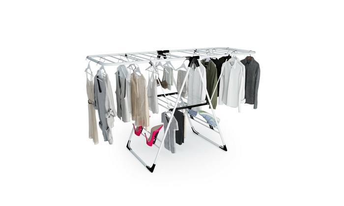 Laundry Clothes Storage Drying Rack Portable Folding Dryer Hanger