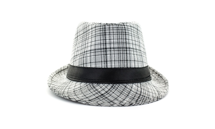 Faddism Fashion Fedora Hat in Grey