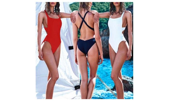 Women's Padded Monokini One Piece Swimsuit