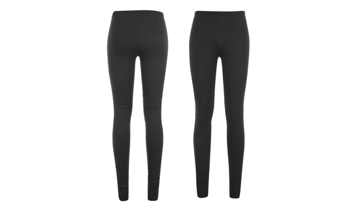 Women's Fleece Lined Leggings 2-Pack Black Soft - 2 Pack Black