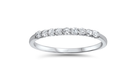 1/4CT Diamond Wedding Ring 14K White Gold ddf231e3-0b66-4935-a4a3-dd17af6050b4