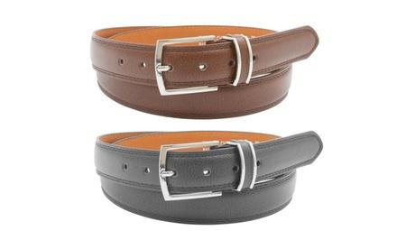 Barbados Men's Genuine Leather Belts (2-Pack)