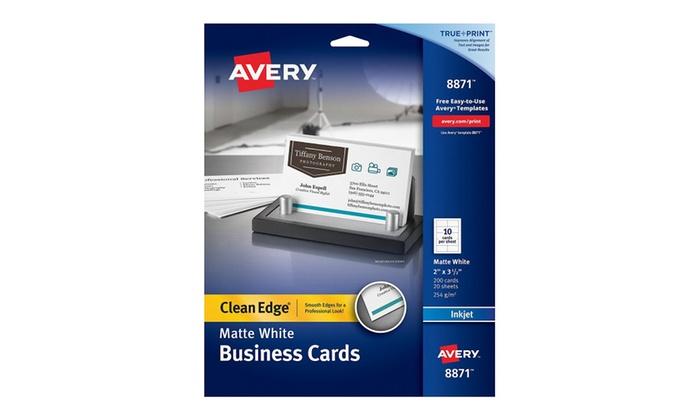 Avery 8871 inkjet matte business cards 2 x 3 12 white 10 per sheet avery 8871 inkjet matte business cards 2 x 3 12 white 10 per friedricerecipe Choice Image