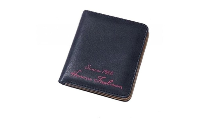 Women's Wallet Faux Leather PU Bifold Multi Card Holder Solid Color