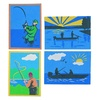 """Sand Art Boards 5""""x7"""" - Gone Fish'n  (pack of 12)"""