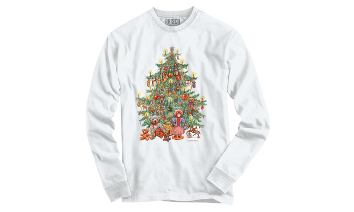 Christmas Tree Full of Toys with Candles Long Sleeve T-Shirt