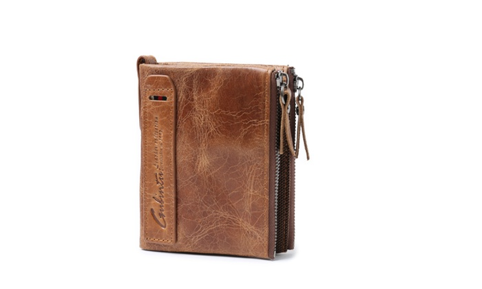 Genuine Crazy Horse Leather Wallet For Men