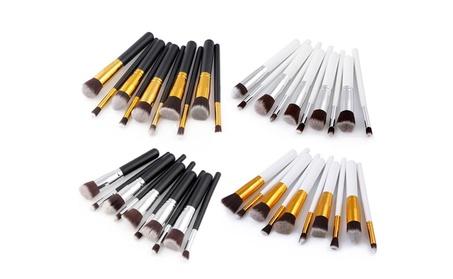 10Pc Makeup Brushes Tool Set Eyeshadow Face Powder Foundation Brush 46f42f0a-e572-4906-b3dc-eb65b24c1ae9