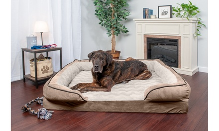 FurHaven Pet Velvet Waves Perfect Comfort Orthopedic Dog Sofa Bed