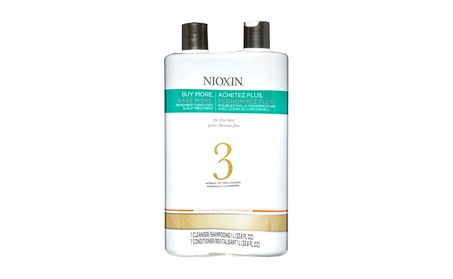 Nioxin System 3 Cleanser & Scalp Therapy Conditioner Set 33.8 oz