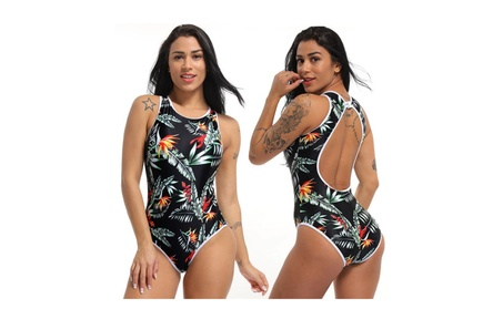 Women's Jungle One Piece Padded Swimwear Swimsuit 27edc59d-f1de-468e-ad6c-0be33862a1bb