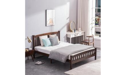PWB-044 Cap Vertical Strip Bed Walnut Twin/Full/Queen