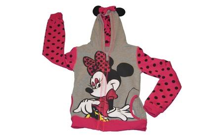 Genuine Disney Minnie or Mickey Mouse Girls Zip Hoodie Ears Fleece aff71b17-3e98-4175-b738-f8a60c047f62