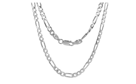 "16"" Sterling Silver Figaro Chain Link 16820fd1-af88-49cd-a364-db2f50bd8751"