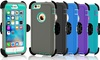 Apple iPhone 5/5S & iPhone 6/6S Plus Protective Shockproof Defender Case w/ Clip