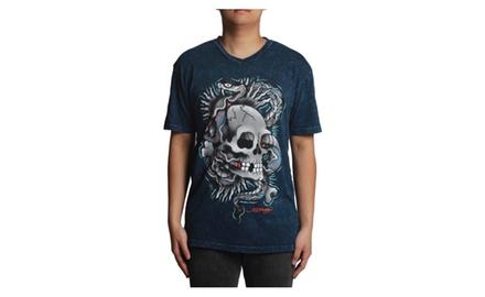 Ed Hardy Skull Snake V-neck T-shirt