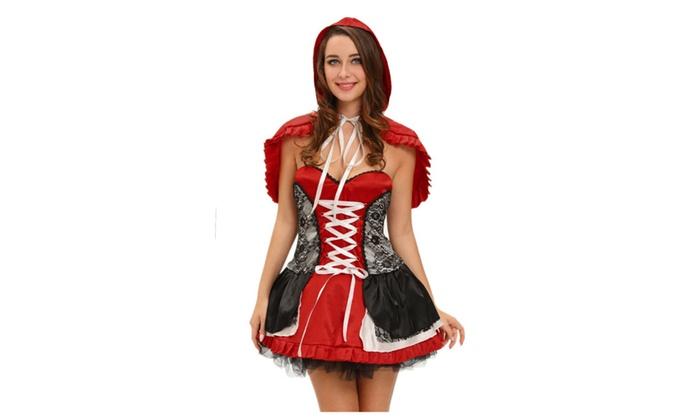 Women's Sweet Little Red Riding Hood Costume Dress