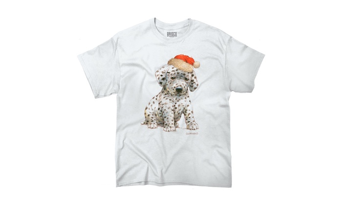 Santa's Cute Sad Spotted Puppy T-Shirt