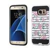 Insten Roses Hard Hybrid Case For Samsung Galaxy S7 Edge Pink/white