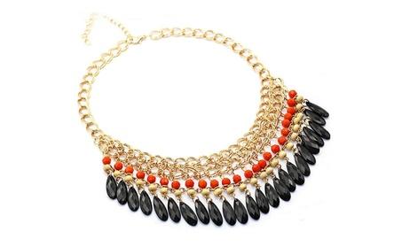 Resin Beads Bohemian Gold Necklaces for Women 9ca87d4c-2d98-490d-8566-be7ead60fb7d