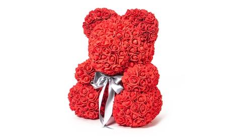 Forever Love Flower Teddy Bear Roses Gift 1331a30e-3916-4a17-8efe-4154b6b6c324