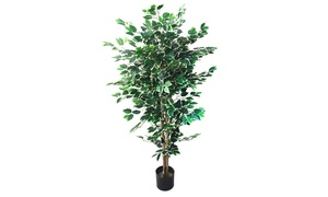 Pure Garden 5 Foot Ficus Artificial Tree