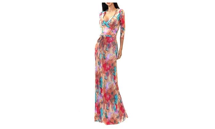 Colorful Pastel Tie Dye Elegant Full Length Maxi Dress U S A Groupon