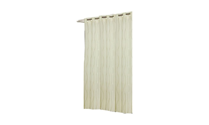 Shower Stall Sized EZ ON Bristol Polyester Curtain Multi Color