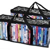 Evelots 2 Portable Zebra DVD Blue Ray Media Storage Bags Holds 33 Each
