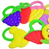 Tinukim Soothing Baby Teethers, BPA Free - Fun Fruit/Ice Cream and Variety